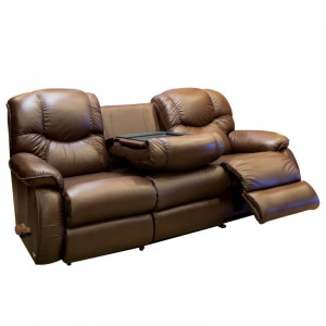 DREAMTIME Motion Reclining Sofa with Drop Down Table